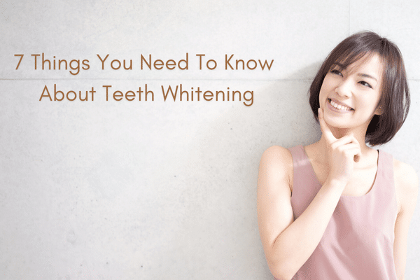 Things to Know About Teeth Whitening